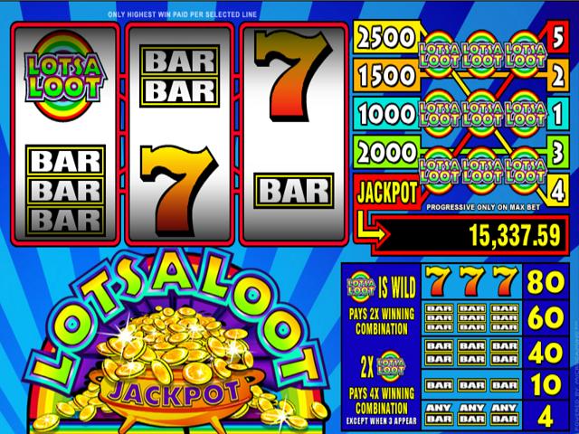 LotsaLoot 3-Reel Slot Online Game