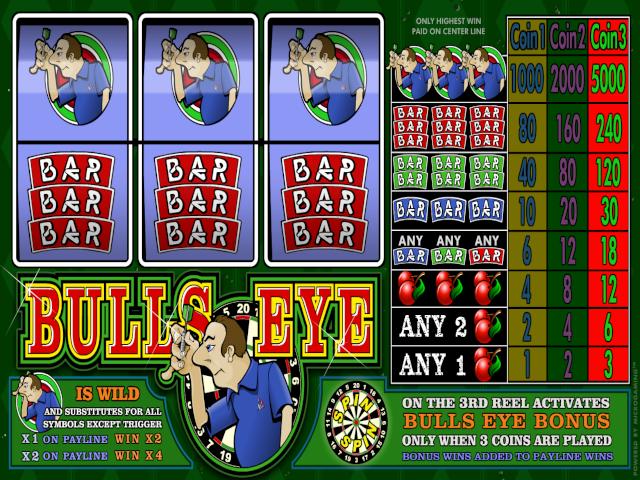 Bulls Eye 3-Reel Slot Online Game