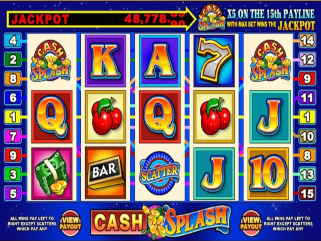 Cashsplash 5-reel Slot Online Game
