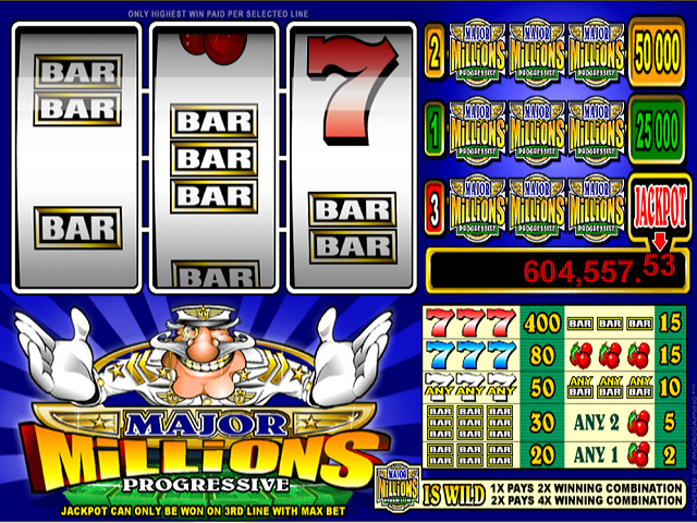Major Millions 3-Reel Slot Online Game