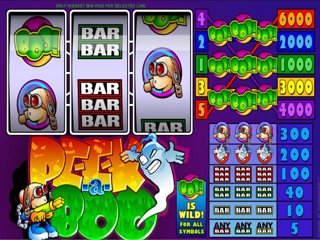 Peek-a-boo 3-Reel Slot Online Game